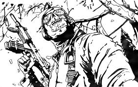 Small Picture Call Of Duty Black Ops Coloring Page Coloring Home