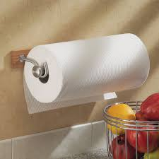 kitchen towel holder wall mounted. InterDesign Formbu Paper Towel Holder For Kitchen \u2014 Wall Mount, Bamboo/Brushed Stainless Steel Mounted F