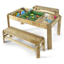 plum premium wooden activity table with benches amazoncouk