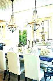 dining room chandelier height hanging table standard above t