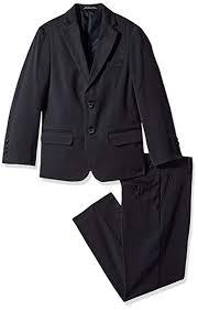 Amazon Com Van Heusen Boys Big Solid Twill 2 Pc Suit Navy