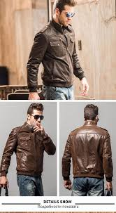 men s pigskin motorcycle real leather jacket genuine leather jackets padding cotton winter warm coat men