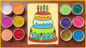 TÔ MÀU BÁNH SINH NHẬT ĐẸP LUNG LINH BẰNG TRANH CÁT - SAND PAINTING HAPPY  BIRTHDAY CAKE | Website cung cấp các thông tin liên quan đến bánh - Trang  thông tin