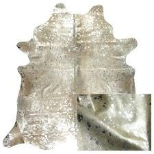 metallic cowhide rug gold