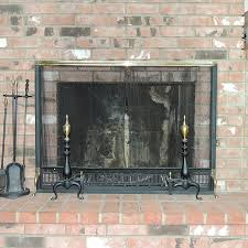 charming vintage fireplace screen on tools and bennett andirons ebth