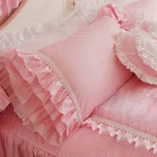 ruffled pillow shams. Delighful Ruffled Pink Gingham Ruffled Pillow Sham To Shams M