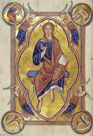 christ in majesty from the aberdeen bestiary the new photography has enabled experts to