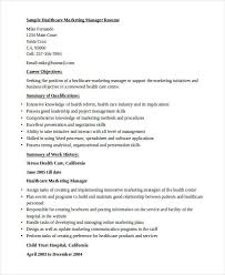 Sample Healthcare Marketing Director Resume