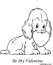Small Picture dog with heart coloring pages printable for kids thingkidcom
