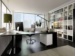 black white home office inspiration. officemodern small home office inspiration with textured wood floor and black modern computer desk white r