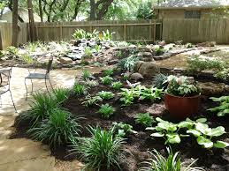 Small Picture Shade garden with a water feature Yes those are Hostas in Austin