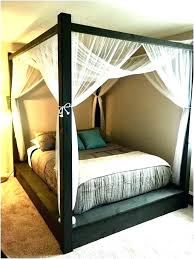 King Size Canopy Queen Size Canopy Bedroom Set Fresh Big Post Bed ...