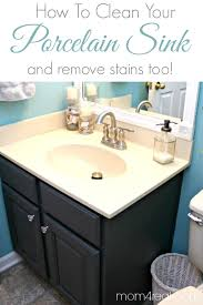 how to get a clean porcelain sink and remove rust stains too