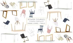power couples dining chairs and tables