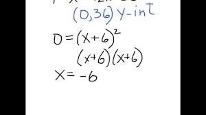 find x and y intercepts of parabola