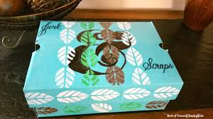 Decorating A Shoe Box Recycled Shoe Box into Stencil Designed Storage Redo It Yourself 32
