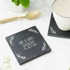Wedding Coasters Personalised Slate Wedding Coaster By Sophia Victoria Joy