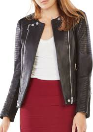 bcbg max azria bcbgmaxazria blake double zip leather jacket