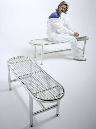 Class 1 Stainless Steel Gowning Benches  Cleanroom Furniture Cleanroom Bench