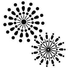 モノクロ打ち上げ花火シルエット 無料イラスト素材素材ラボ