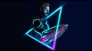 captain america wallpaper neon