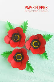 Red Paper Flower Paper Poppy Craft Sugar Spice And Glitter
