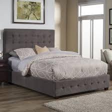 Platform Bedroom Furniture Alpine Furniture Alma Upholstered Platform Bed Reviews Wayfair