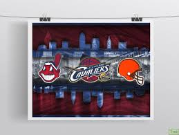 cleveland teams cleveland cavaliers indians browns cavs poster on cleveland sports teams wall art with cleveland teams cleveland cavaliers indians browns cavs poster