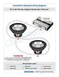 subwoofer wiring diagrams 2 svc 4 ohm 2ch low imp