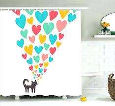 standard shower curtain length rod size uk