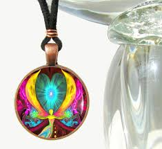 chakra jewelry spiritual healing necklace reiki pendant seeds of change primal painter
