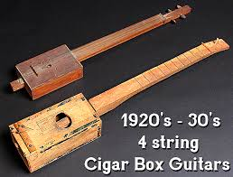 1920 s and 30 s 4 string cigar box guitars