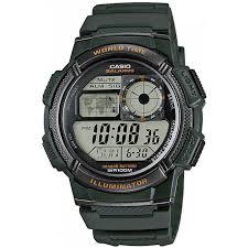 casio ae 1000w 3a green watch for men
