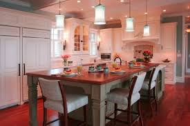 incredible kitchen island table combination within eye catching home act at
