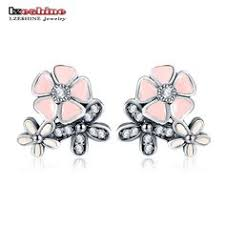 <b>SA SILVERAGE Real 925</b> Sterling Silver Crystal Drop Earrings Fine ...