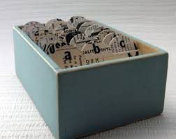 Address And Business Card File Box Made Featuring Vintage