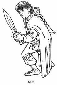 Small Picture Samwise from Lord of the Rings coloring page to print online Fun