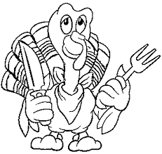 Small Picture Thanksgiving Turkey Coloring Pages to Print for Kids Clip Art