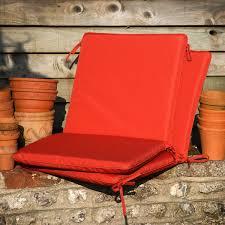 terracotta high back garden chair