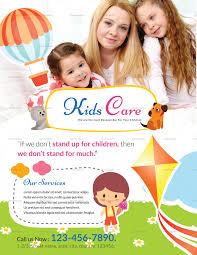 Kids Care Center Flyer Template