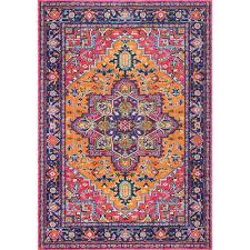 nuloom fancy persian vonda orange 4 ft x 6 ft area rug