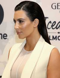 Líbí Sem Vám Mokrý účes Od Kim Kardashian Trendy Hair Fashion