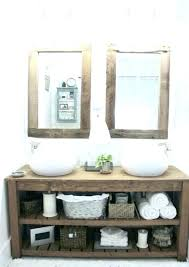 industrial bathroom vanity unit vanities details about new rustic chunky solid wood sink style units