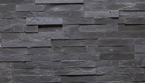 black stone wall texture. Black Slate 3D Mosaic Stone Wall Texture