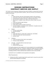 Sample Cleaning Contract Template | Nfcnbarroom.com