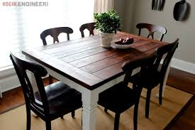 how to make a farmhouse dining room table elegant diy farmhouse table free plans