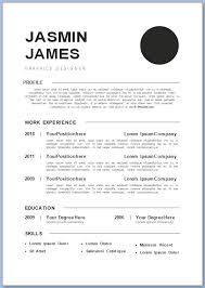 The Free Cv Template For The Jobseeker 2146