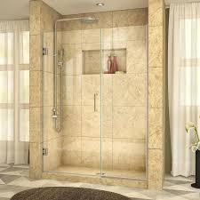 dreamline unidoor plus 46 in to 46 5 in w brushed nickel hinged shower door