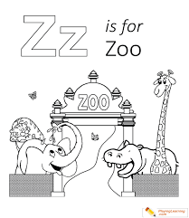 z is for zoo coloring page. Is For Zoo Coloring Page Throughout