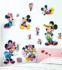 new 3d mickey mouse and minnie mouse wall sticker decal kids baby room